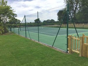 Refurbishment of old tennis-court - Kirklington near Ripon