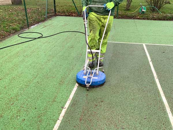 Tennis court cleaning yorkshire