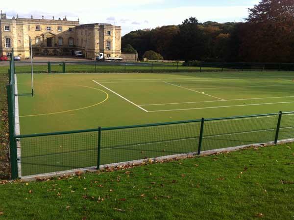 Weld mesh tennis court fencing